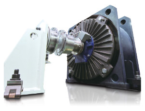External view of a direct drive motor